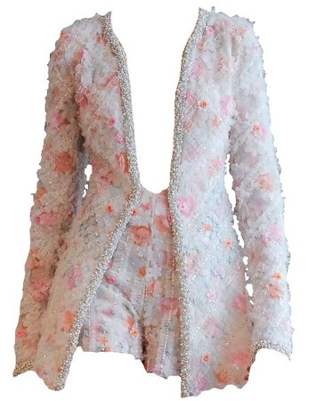 Ines Di Santo Embellished Jacket and Shorts (edit by alldressedupbutnowheretogo)