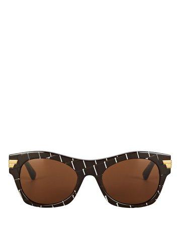 Bottega Veneta Intreccio Cat Eye Sunglasses   INTERMIX®