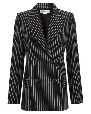 Victoria Beckham Double-Breasted Wool-Blend Blazer | INTERMIX®