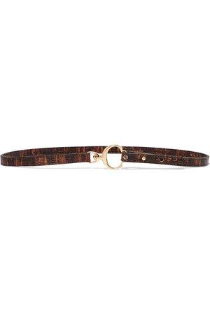 Chloé | Lizard-effect leather belt | NET-A-PORTER.COM