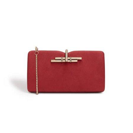 Allegro Red Vegan Clutch Bag | LaBante | Wolf & Badger
