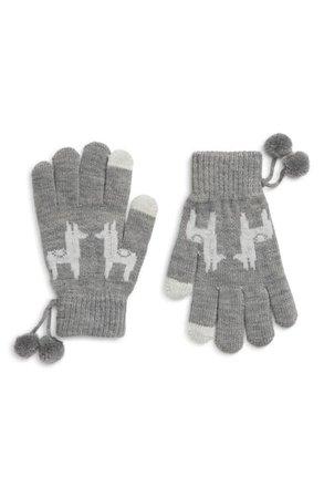 Shiraleah Llama Pom Touchscreen Gloves | Nordstrom