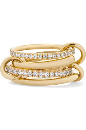 Spinelli Kilcollin | Set of four 18-karat gold diamond rings | NET-A-PORTER.COM