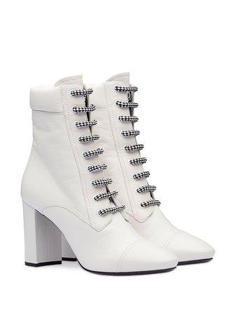Prada lace-up heeled boots