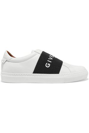 Givenchy - Urban Street Logo-print Leather Slip-on Sneakers - White
