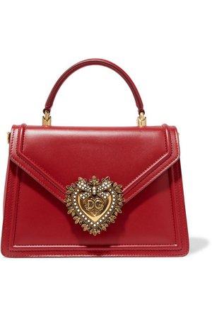 Dolce & Gabbana | Devotion small embellished leather tote | NET-A-PORTER.COM