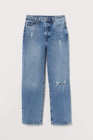 Vintage Straight High Jeans - Blue