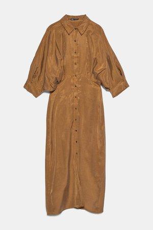 PLEATED SHIRT DRESS   ZARA Australia