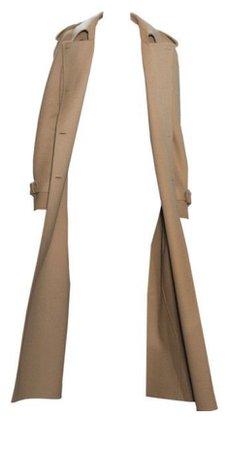 Beige/Tan Trench Coat PNG