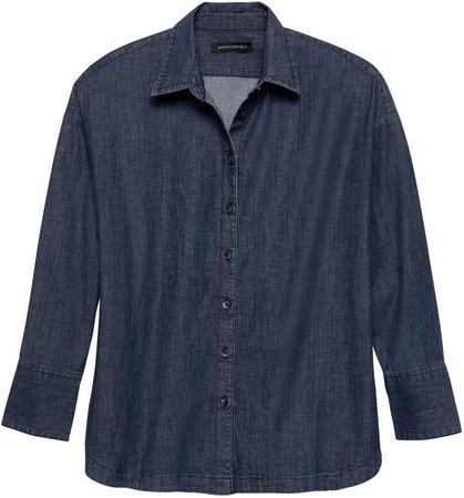 JAPAN ONLINE EXCLUSIVE Oversized Denim Shirt