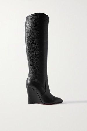 Civiliza 100 Textured-leather Knee Boots - Black