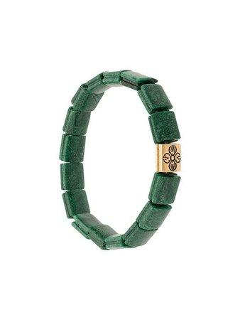 Nialaya Jewelry Dorje jade flat beaded bracelet
