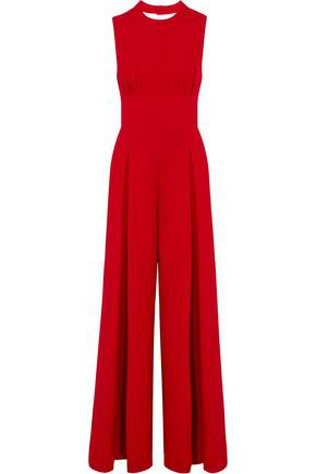 Ethel tie-back wool-crepe jumpsuit | EMILIA WICKSTEAD | Sale up to 70% off | THE OUTNET