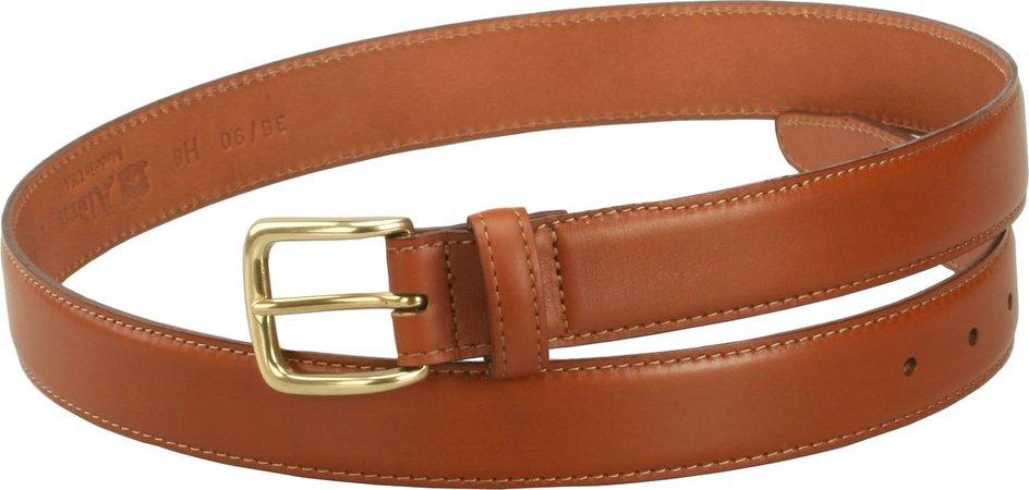 Alden Men's 30mm Calfskin Dress Belt - Tan with Gold Buckle