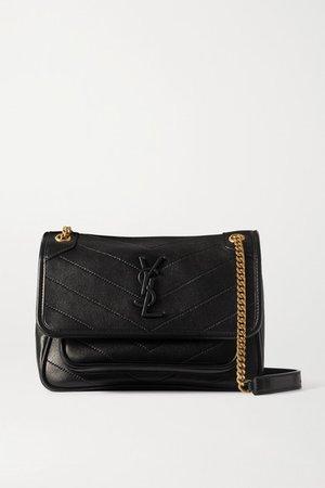 Niki Mini Quilted Leather Shoulder Bag - Black