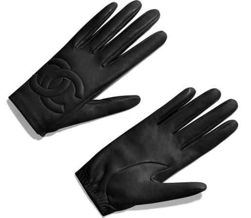 Gloves, lambskin, black - CHANEL