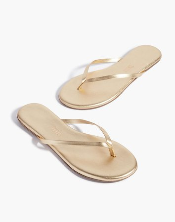 TKEES Metallics Leather Sandals
