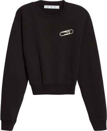 Paperclip Logo Graphic Cotton Sweatshirt