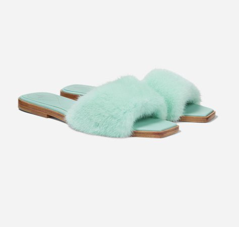Raulph and Russo Mink Slippers