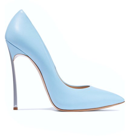casadei light blue pumps