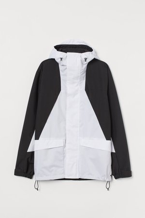 Water-repellent Shell Jacket - White