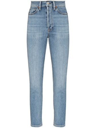 RE/DONE Skinny Fit Cropped Jeans - Farfetch