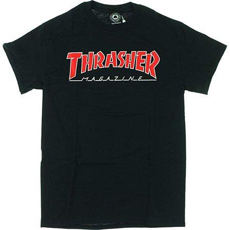 Amazon.com: Thrasher Magazine Outlined Black Men's Short Sleeve T-Shirt - Large: Clothing