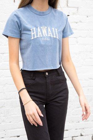 Hawaii Blue Short Sleeved Shirt