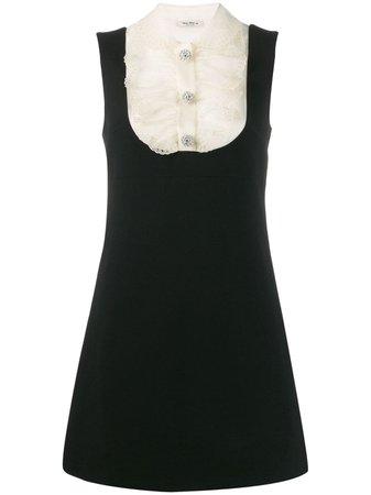 Miu Miu Lace Panel Mini Dress