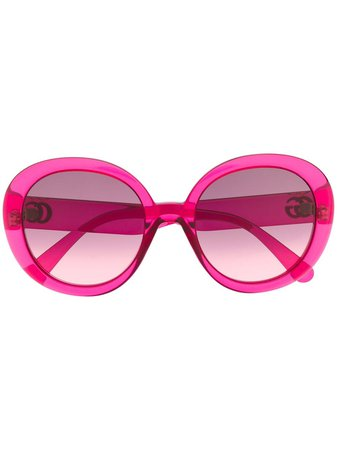 Gucci Eyewear GG round-frame sunglasses pink GG0712S004 - Farfetch