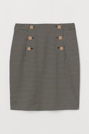 Knee-length Skirt - Beige