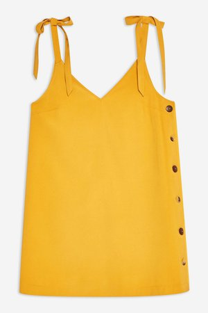 Button Mini Slip Dress - Dresses - Clothing - Topshop USA