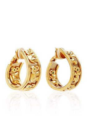 Vintage Cartier 18K White and Yellow Gold Elephant Earrings by Eleuteri   Moda Operandi