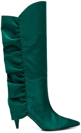 Marc Ellis ruched detail pointed toe boots