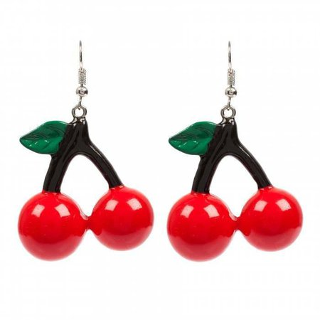 Big Cherry Pop Earrings - Accessories | Irregular Choice