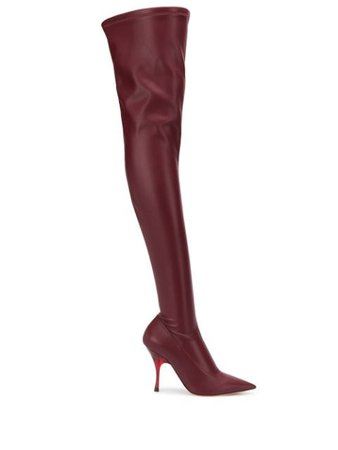 Red Rochas 110Mm Pointed Thigh High Boots | Farfetch.com