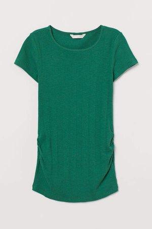 MAMA Ribbed Cotton Top - Green