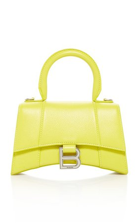 Hourglass XS Embellished Textured-Leather Top Handle Bag by Balenciaga | Moda Operandi