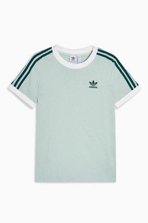 Green Three Stripe T-Shirt by adidas   Topshop