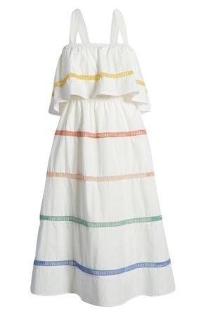 English Factory Sleeveless Stripe Ruffle Dress | Nordstrom