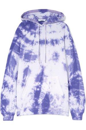 Ninety Percent | + NET SUSTAIN tie-dyed organic cotton-jersey hoodie | NET-A-PORTER.COM