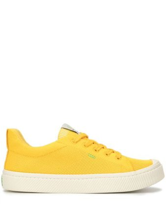 Cariuma Ibi Low Sun Yellow Knit Sneaker 300608Y02   Farfetch