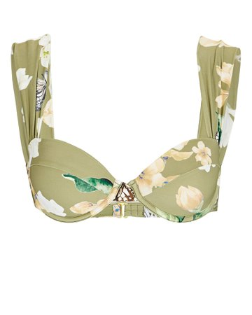 WeWoreWhat Claudia Floral Printed Bikini Top | INTERMIX®