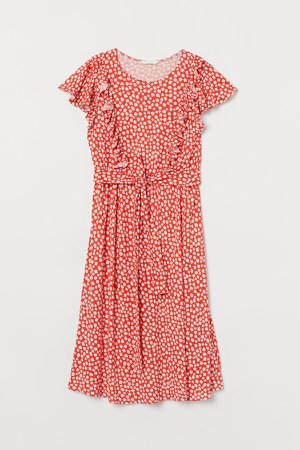 MAMA Ruffle-trimmed Dress - Orange