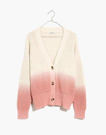 Dip-Dye Courtland Cardigan Sweater pink