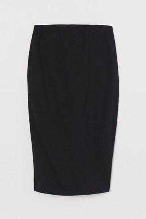 MAMA Cotton Jersey Skirt - Black