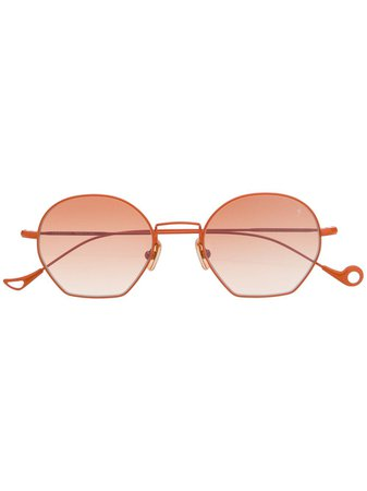 Eyepetizer TRIOMPHE Round-Frame Sunglasses TRIOMPHE Orange | Farfetch