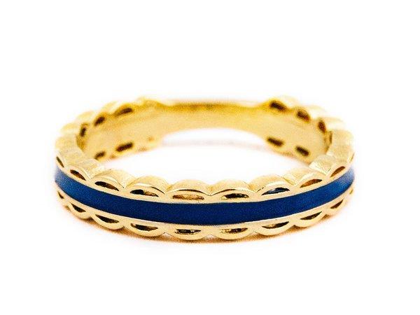 Scalloped Ring -Navy – Kiel James Patrick