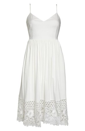 French Connection Salerno Lace Border Sundress   Nordstrom