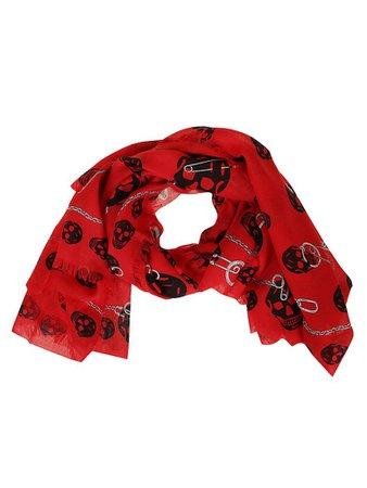 Alexander McQueen Alexander McQueen Fo Pinned Multiskull - Red Black - 10962329 | italist